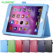 FLOVEME Book Leather Case For Apple iPad 2 3 4 Case Tablets Stand Funtion Business Cover For ipad2 3 4 9.7 Retro Bag Cases Capa