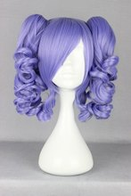 MCOSER Fashion Lolita Women's Party Purple CLIP on ponytail Cosplay Synthetic Hair Anime Wig