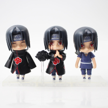 9cm 3pcs/lot Naruto Uchiha Itachi PVC Action Figure Model Toy cute Uchiha Itachi figure collection friends gift
