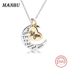 Brand Muslim Crescent ID Dog Tag Necklaces & Pendants 925 Sterling Silver Islam Moon Star Jewelry Accessories Collar Women Gift