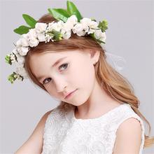 1 Set Bohemia Flower Floral Hairband+bracelet Children Girls Crown Headband Party Wedding Headwear Hair Accessories