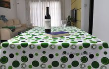 Green Endless Cotton fabric table cloth coffee tablecloth rectangle and square dining tablecloth