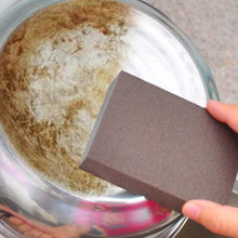 1Pcs Hot Sponge Kitchen Nano Emery Magic Clean Rub the pot Except rust Focal stains Sponge Free Shipping Wholesale(China)