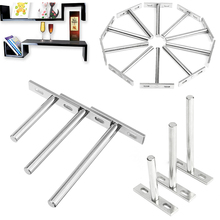 "10PCS 3""4""5"" Metal Shelf Bracket Hidden Floating Wall Shelf Support Bracket for Heavy Duty Bracket Support(China)"