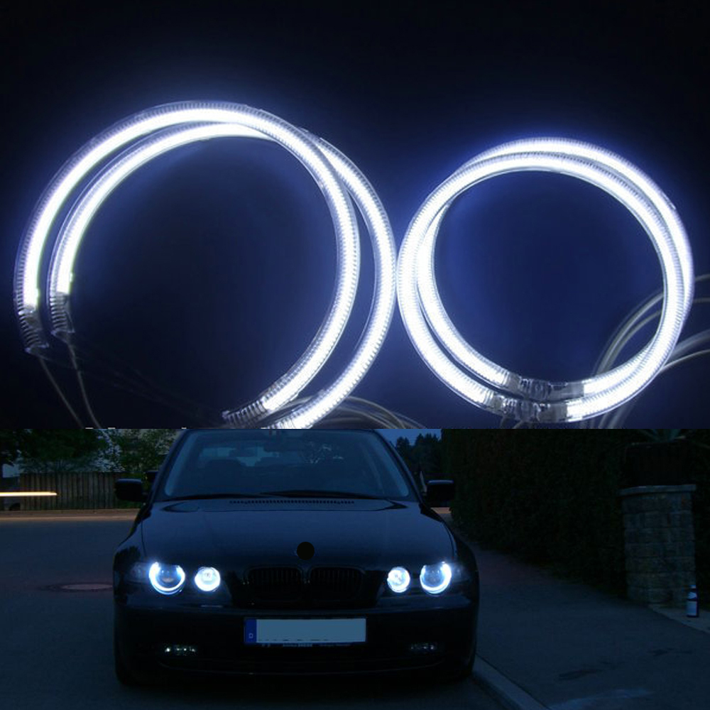 Special fit for BMW E46 COMPACT HATCHBACK 2001-2005 NON PROJECTOR REFLECTOR CCFL ANGEL EYE KIT 7000K White Halo Ring Light<br>