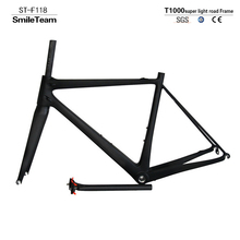 2017 Model SmileTeam T1000 Super Light Chinese Factory Road Full Carbon Bicycle Frame,Carbon Bike Frame with Fork/Seatpost/Clamp