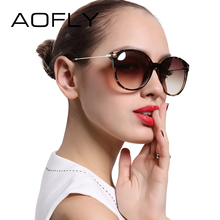 AOFLY With Case Fashion Lady Sun glasses New Polarized Women Sunglasses Vintage Alloy Frame Classic Brand Designer Shades AF7913(China)