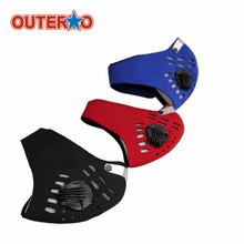 OUTERDO 1 Pcs Cycling Mask Bicycle Face Mask Flexible Wind Cold Proof MTB Mountain Bike Masks For Riding Hiking Ourdoor Sports