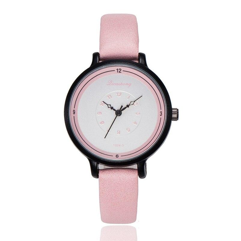 2018 High Quality women fashion casual watch luxury dress ladies Leather Band Analog Quartz Wrist Watch Clock relogio J13#N (6)