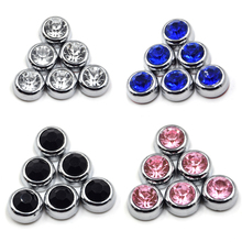 6Pcs 13mm Crystal Rhinestones Auto Decor DIY Accessories Diamond Self Adhesive Sticker on Cars for Mirror Steering Wheel Glass(China)