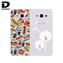 TPU Soft Case For Samsung Galaxy A5 2015 A500 Transparent Coloured Pattern Phone Cases Cove For Samsung Galaxy A5 Silicone Case