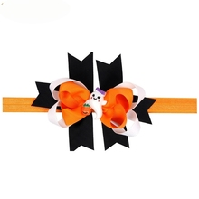 Newly Design Cute Big Bow Headbands Elastic Halloween Cartoon Decals Hair Accessories For Little Girls 160802 Drop Ship