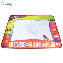Coolplay CP1308 80x60cm Magic Doodle Painting Mat 2 Drawing Pen Water Drawing Play Mat/water draw rug/coloring mat for kid toys