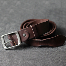 Buy winter genuine leather belt men super buckle men's belts cow skin leather strap width thong free for $20.27 in AliExpress store