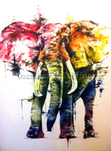 X Series Abstract Elephant Oil Painting For Living Room Decoration Handmade Abstract Elephant Painting For Wall Decoration Art