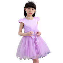 Girl Dress Jacquard Ball Gown Handmade Flowers Pearls Beaded Girl Clothes Kids Princess Dress Wedding Party Elegant Girl Dresses