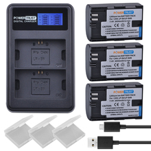 3Pcs LP-E6 LP-E6N Replacement Batteries + LCD USB Dual Channel Charger for Canon EOS 60D, 70D, 5D Mark II, 5D Mark III, 5D Mark(China)