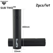 Buy SUB TWO 2pcs/lot S60 electronic cigarette battery big capacity 2200mah vape pen 60w e cigarette fit m18 m22 0.5ohm-1.0 ohm for $18.00 in AliExpress store
