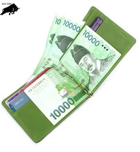 ZYD-COOL Korean Style Men Money Clip for Money New Style Billfold Clamp for Money Fashion Clip Wallet New Men Wallets(China)