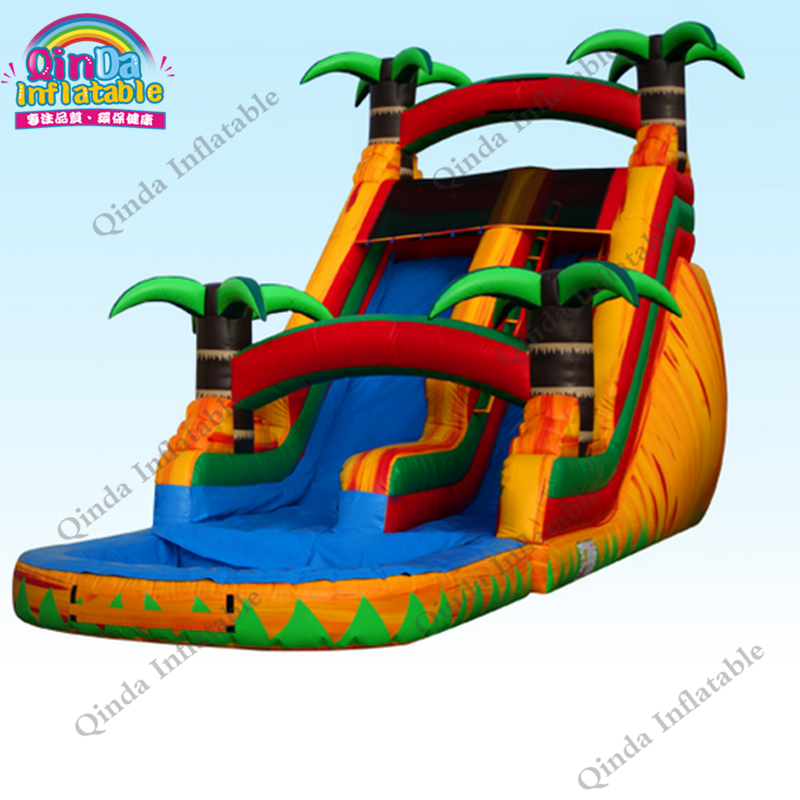 inflatable water slide with pool41