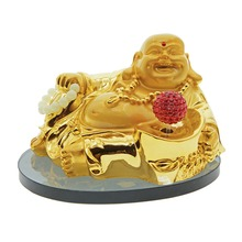 "6.1"" New Car Perfume White Gold Beads Smiling Buddha Perfume Seat Plastic Automotive Suppliers Car Air Freshener Accessories(China)"