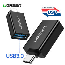 Ugreen USB C адаптер Тип C до USB 3,0 адаптер Thunderbolt 3 Тип-C адаптер OTG кабель для Macbook pro Air samsung S10 S9 USB OTG(China)