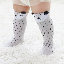 a009f3b23ea Unisex Cute Cartoon Fox Socks Kids Girl Boys Knee High Socks Cartoon Animal  Infant Soft Cotton