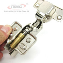 Half overlay Kitchen Hinges Furniture Hydraulic Soft Close Closet Cupboard Hinges Brass Buffer Damper(China)