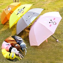 New Arrival Cute Fashion Kawaii Cartoon Totoroo Bear Minions Rabbit Umbrella Dome Parasol Sun/Rain Folding Lady Women Umbrella