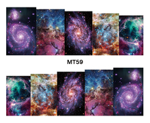 Nail Beauty MT59 Full Cover Galaxy Nebula Nail Art Water Transfer Sticker Decal For Nail Art Tattoo Tips DIY Nail Tool(China)