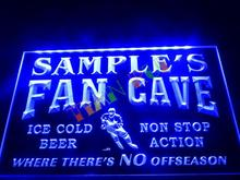 DZ067- Name Personalized Custom Hockey Fan Cave Bar Beer Neon Sign hang sign home decor shop crafts(China)