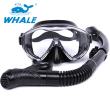 2017 Brand 6 Colors Scuba Diving Mask Snorkel Goggles Set Silicone Swimming Pool Equipment free shipping MK100+SK900(China)