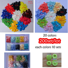 Free Shipping (4 parts as a set)200 SETS/LOT Mix color clothing accessories sold High Quality T5 baby snap buttons