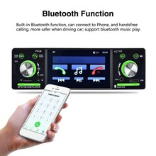 "New 4.1"" HD LCD Touch Screen 800*480 Car MP5 Player Bluetooth 1080P 7 Color Button Back Light Mirror Link FM/AM/RDS Tuner"
