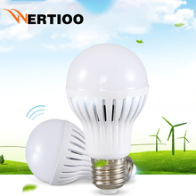 WERTIOO LED PIR Motion Sensor Lamp Bulb E27 3w 5w 7w 9w automatic Smart Led PIR Infrared Body Sound + Light Motion Sensor Light(China)