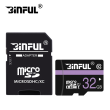 Binful Memory Card Class10 32GB 64GB 16GB micro sd card 8GB 4GB UHS-1 Memory flash card Quick Free Adapter(China)