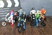 6 piece/Lot Mini finger bmx bike toys for children gift boys present Christmas Gift Flick Trix Bicycle(China)
