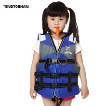 YINGTOUMAN Children Extra-large Professional Lifejacket With Whistles Life Vest Water Sports Foam Life Jacket Buoyancy Vest