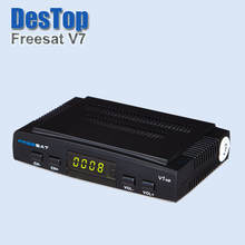 2016 Factory New Original Freesat V7 HD DVB-S2 Mini Satellite TV Receiver Support BISS Key,Patch,CCCAM,Powervu,Youtube,Usb Wifi