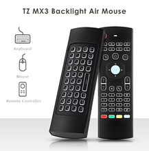 TZ MX3 Air Mouse Backlight MX3 Wireless Keyboard 2.4G Remote Control IR Learning Fly Mouse Backlit For Android TV Box Projector(China)