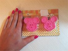 2Pcs/set Cartoon 3D Mickey Minny Mouse Fondant Cake Cookie Biscuit Cutter Mold Mould Tools Set