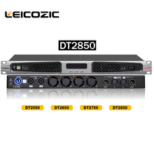 Leicozic DT2850 class d amplifier 850w x2 1U Amps 1400w x2@4ohms digital amplifier for stage night club audio professional sound(China)