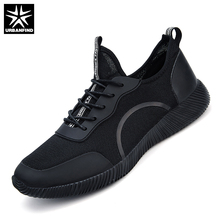URBANFIND Fashion Men Casual Lace-up Shoes Big Size 45 46 47 48 Breathable Mesh Upper Unisex Summer Light Footwear(China)