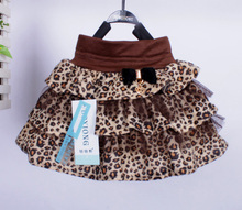 SOSOCOER Little Girl Skirt 2017 Summer Style Leopard Lace Kids Baby Tutu Skirts High Quality Fashion Bow Girls Clothes Outfits