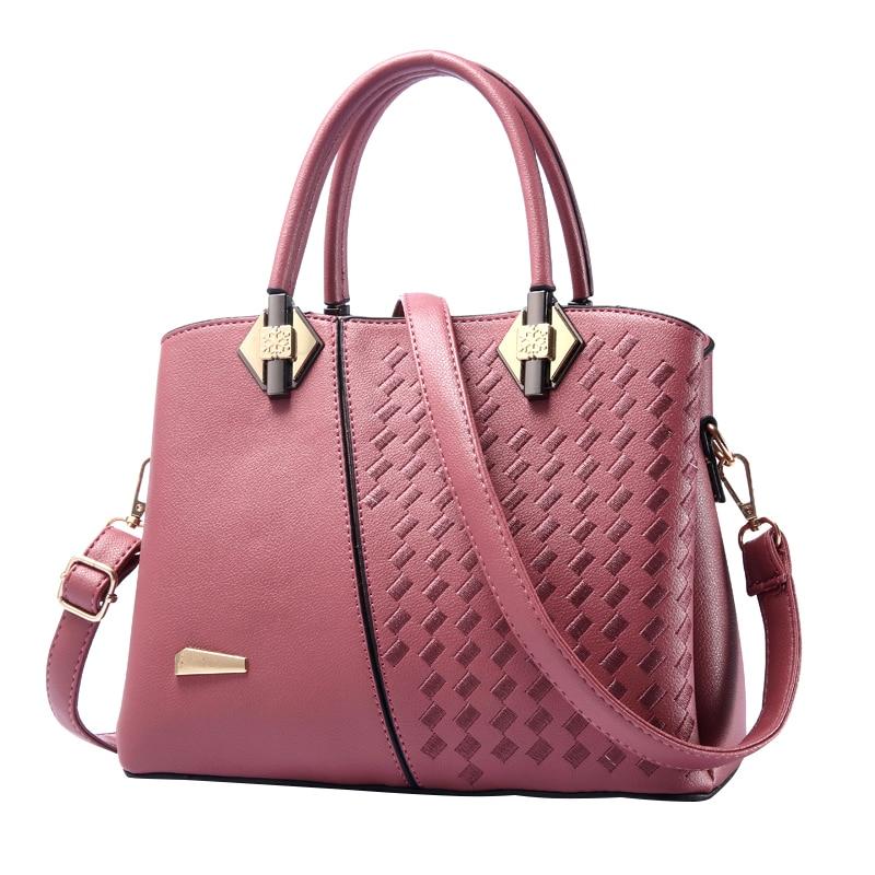 Fashion New Women Handbags Casual Totes Shoulder Crossbody Bags Solid Large Capacity Zipper Ladies Messenger Sac Bolsa Feminina<br>