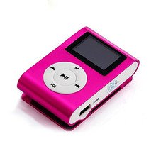 FGHGF MP3 Music Player LCD Screen Mini Slim Mp3 Player Support Micro TF Card Slot 4/8/16/32GB