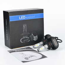 LDDCTEC Car Headlight Kits H4 H11 H13 9005/HB3 9006/HB4 H7 CREE Chips Far & Near Led Headlight Bulbs Fanless Auto Fog Lamp 6500K