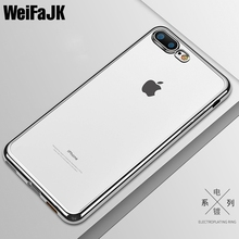 Buy Clear Simple Luxury Phone Case iPhone 7 8 Plus Covers TPU Full Coque TPU Silicone Soft Cover Apple iPhone 6 6s Plus Case for $1.06 in AliExpress store