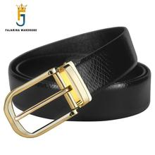 FAJARINA Brand Name Designer Mens Crocodile Pattern Cowhide Belts Quality Genuine Leather Fashion Styles Belt for Men LUFJ753(China)
