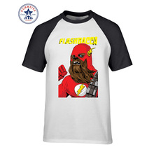 2017 New Arrive Funny Famous Movies Logo Design Star Wars chewbacca Funny T Shirt for men(China)